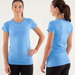 Lululemon Run Swiftly Tech Short Sleeve Blue Lace